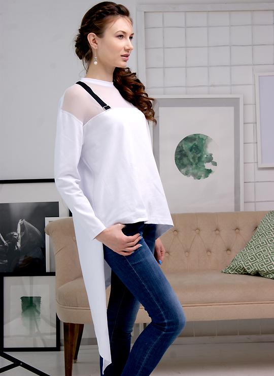 Белая женская футболка One love