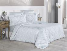 """Комплект постельного белья """"KARNA"""" Сатин-жаккард  GRETA  евро (серый)  Арт.2992-3"""