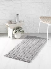 """Коврик для ванной с бахромой """"MODALIN"""" PONPON  50*80 (серый) Арт.5102-1"""