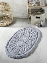 """Коврик для ванной овальный  """"MODALIN"""" WENGE  50*80 (серый)  Арт.5106-8"""