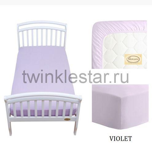Solid простыня натяжная Giovanni фиолетовая