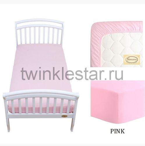 Solid простыня натяжная Giovanni розовая