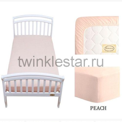Solid простыня натяжная Giovanni персиковая