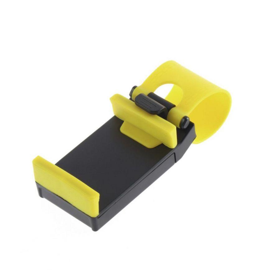 Держатель для телефона на руль (Цвет: Желтый)