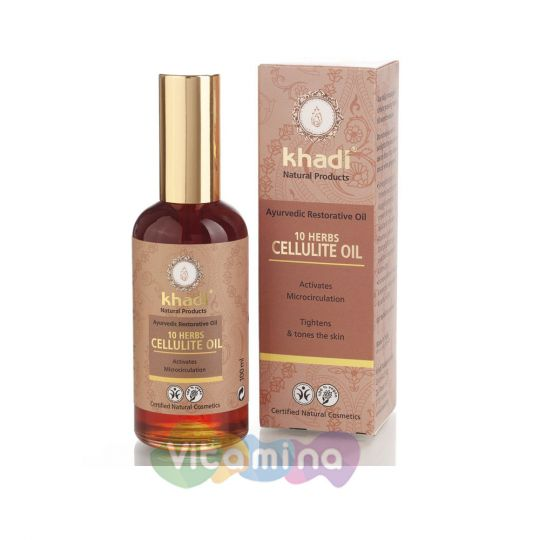 Khadi Антицеллюлитное масло для тела «10 растений», 100 мл