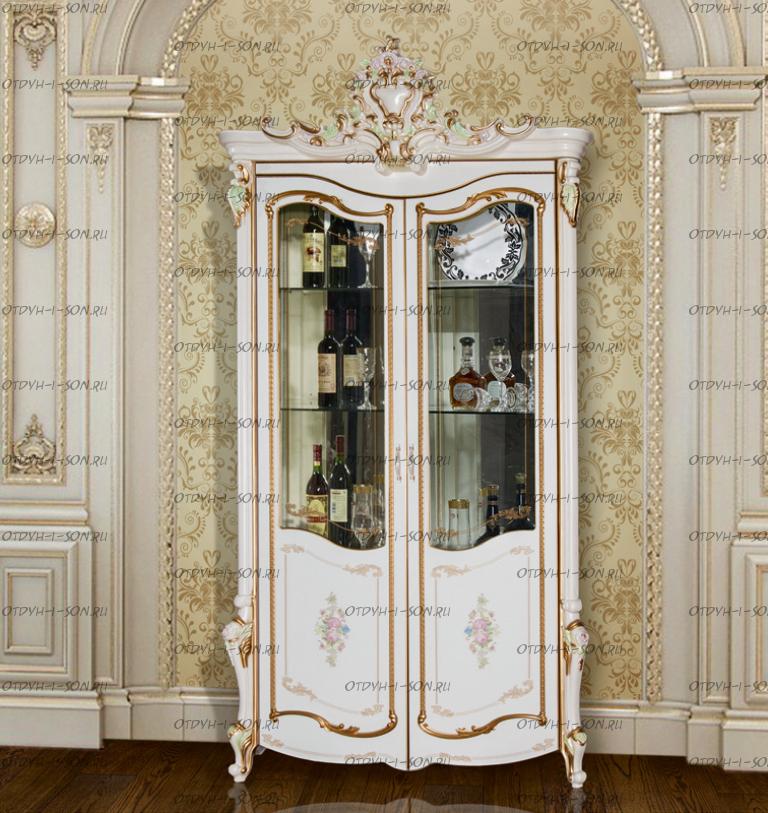 Шкаф-витрина 2-дверный Шейх МДФ (120х56х245) (Гостиная)