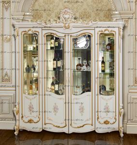 Шкаф-витрина 4-дверный Шейх МДФ (206х56х245) (Гостиная)