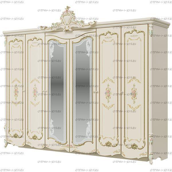 Шкаф 6-дверный Шейх СШ-02 МДФ (291х67х245) (Спальня)