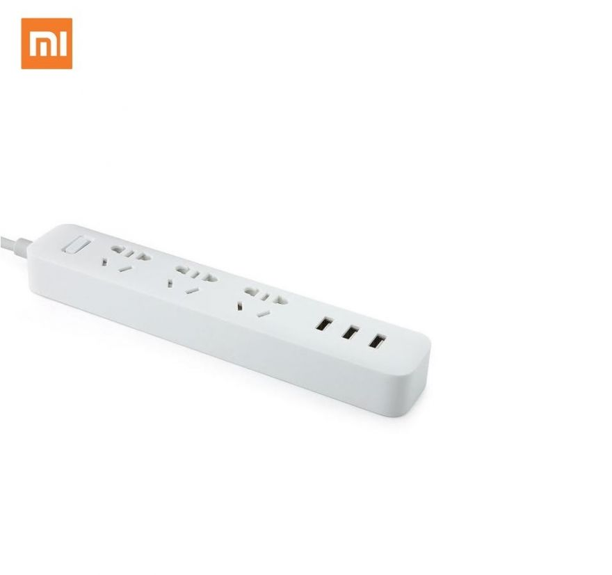 Удлинитель Xiaomi Mi Power Strip 3 розетки, 3-USB белый