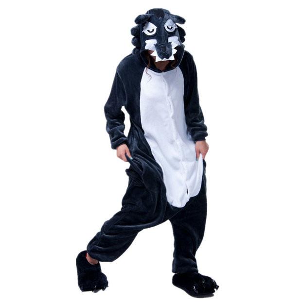 Пижама Кигуруми Волк серый_01