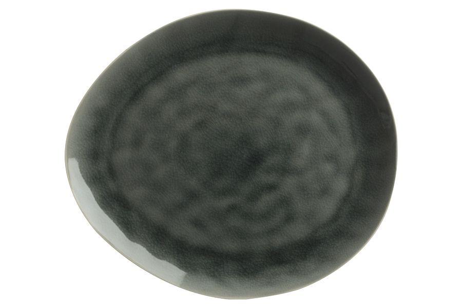 """Тарелка овальная большая """"Artisan"""" (Буря серая), 33х29 см, без инд. упаковки"""