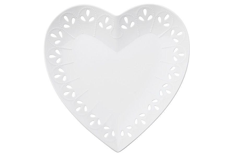 "Тарелка (сердце) ""Лилия"", 22 см, подарочная упаковка"