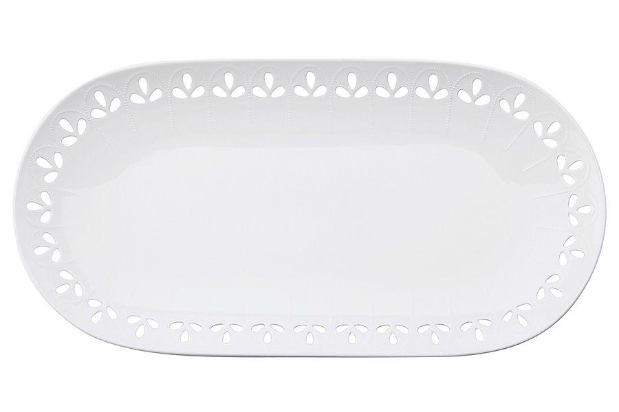 """Блюдо овальное """"Лилия"""", 39х20 см, подарочная упаковка"""