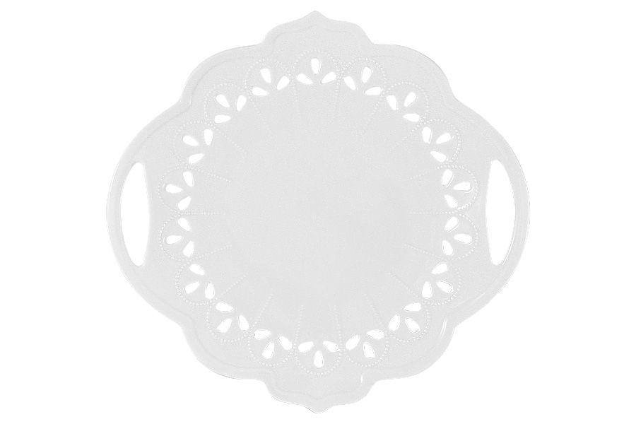 """Тарелка сервировочная с ручками """"Лилия"""", 24 см, подарочная упаковка"""