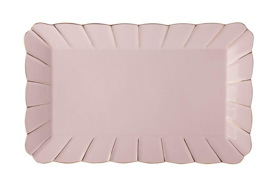 """Блюдо прямоугольное (розовое) """"Свежее дыхание"""", 30х18.5 см, подарочная упаковка"""