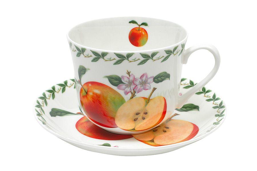 Чашка с блюдцем Яблоко, 0.48 л, подарочная упаковка