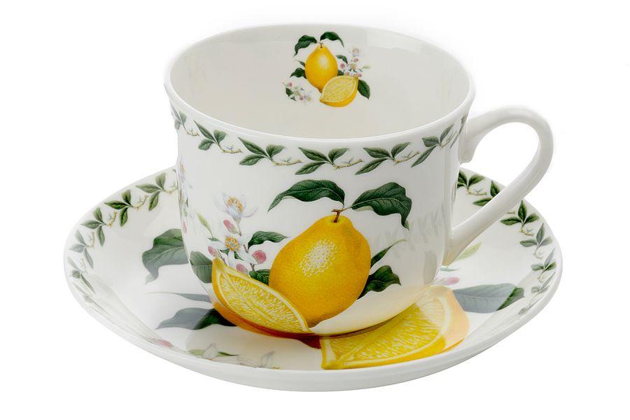 Чашка с блюдцем Лимон, 0.48 л, подарочная упаковка