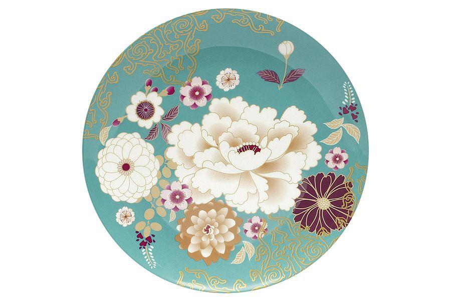 """Тарелка """"Кимоно"""" (бирюза), 20 см, подарочная упаковка"""