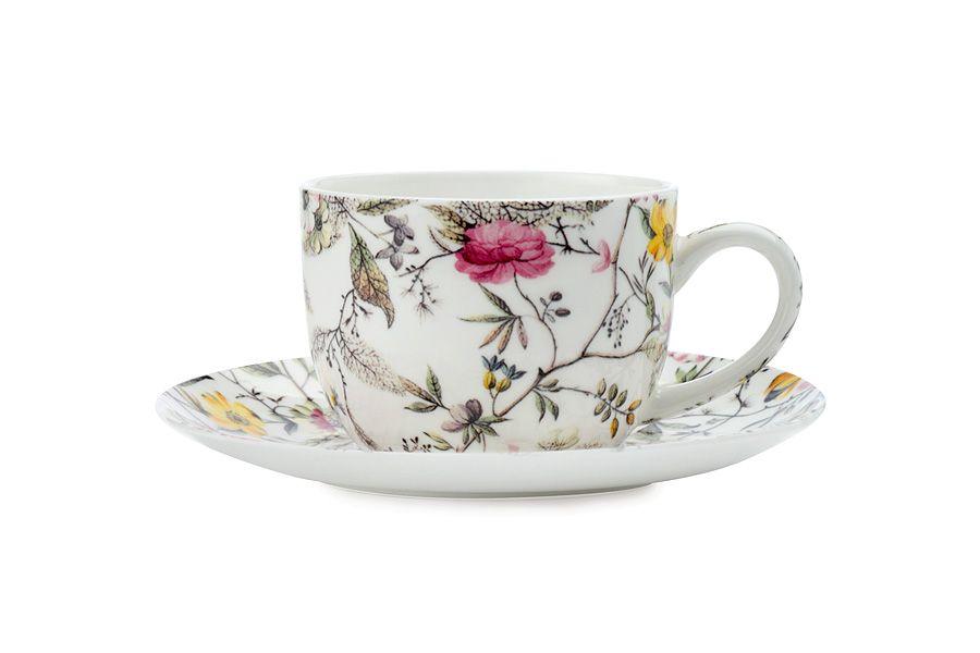 """Чашка с блюдцем для кофе """"Цветение"""", 0.1 л, подарочная упаковка"""