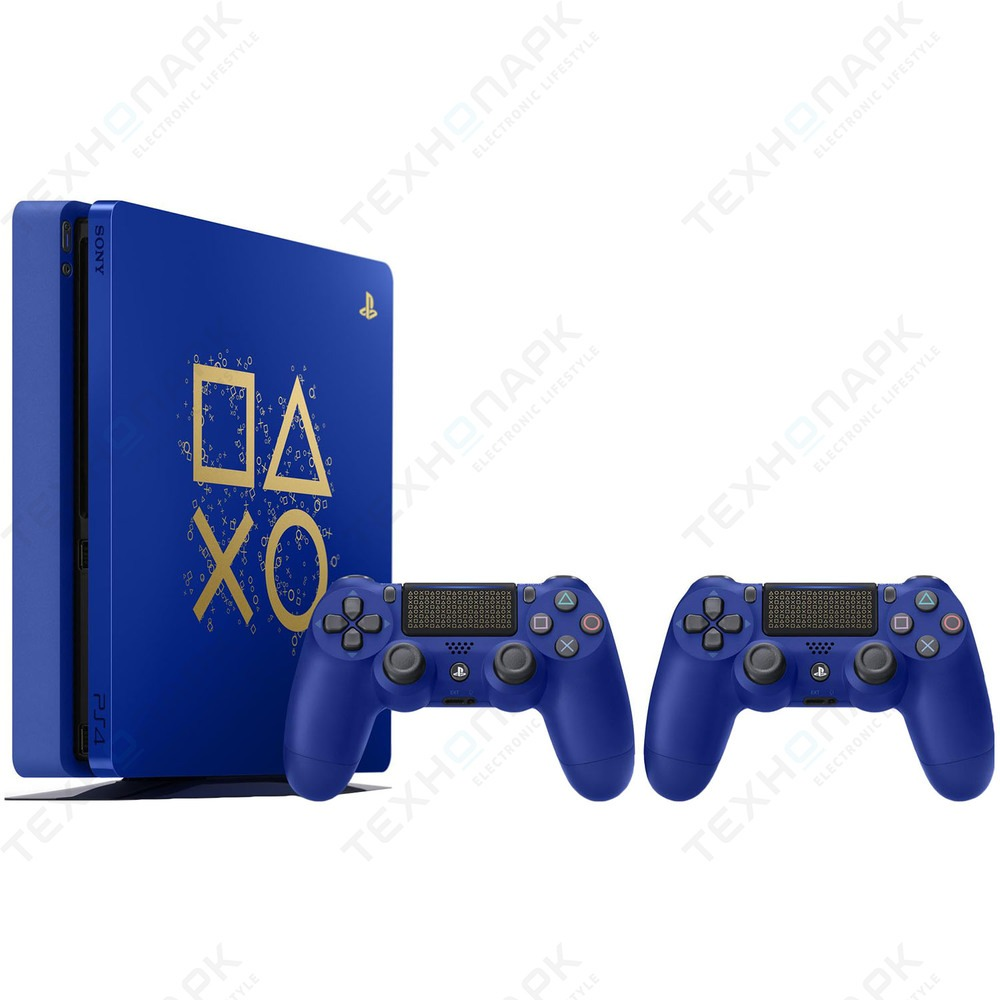"""Sony PlayStation 4 Slim 500 ГБ """"Время играть"""" + Доп. джойстик"""