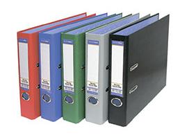 Папка-регистратор 50мм БАНКО ПВХ голубая метал окант карман/25 827401