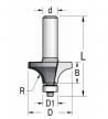 Фреза радиусная с нижним подшипником R4 D1 12.7 20.6 x 9.5 x 59 x 12  WPW RW04002