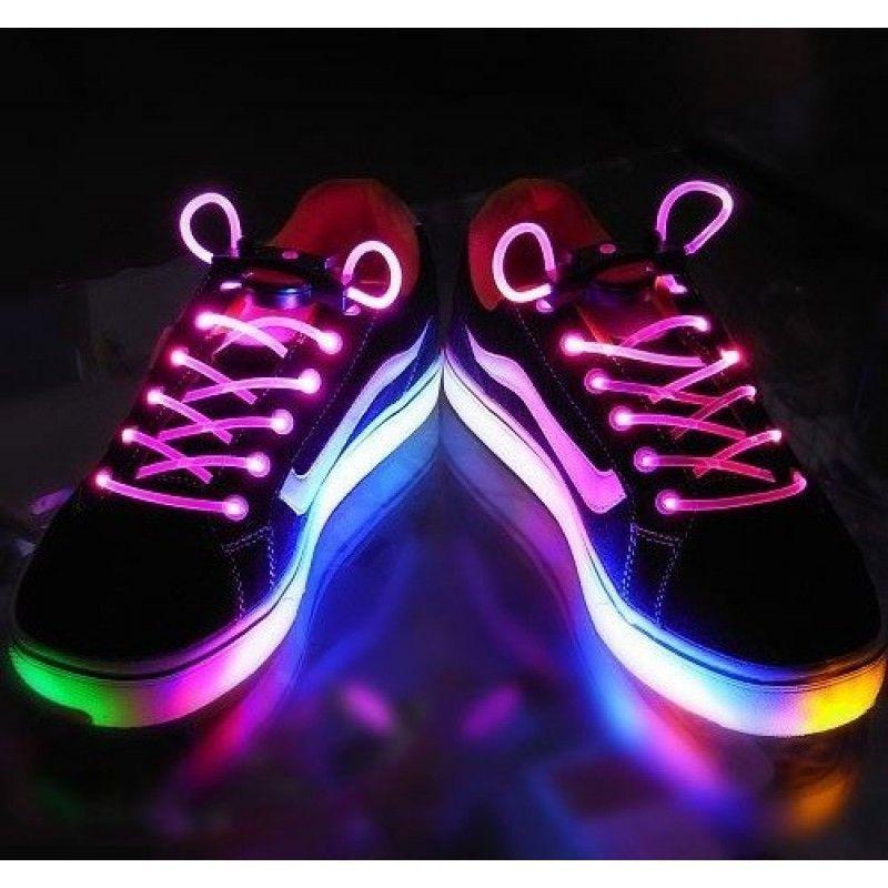 Шнурки с LED подсветкой (Цвет: Розовый)