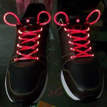 Шнурки с LED подсветкой (Цвет: Красный)