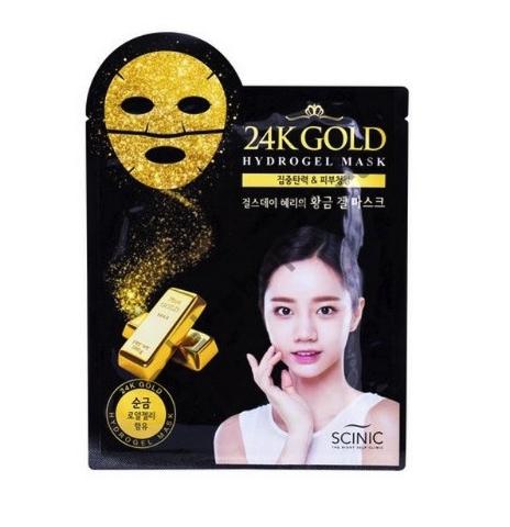 SCINIC - Гидрогелевая маска для лица с золотом