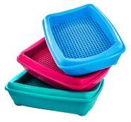 Zoo-M Туалет для кошек глубокий с рамкой и сеткой