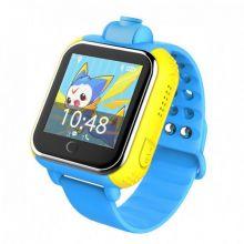 Умные детские часы с GPS Smart Baby Watch GW1000 (G75), Жёлто-голубые