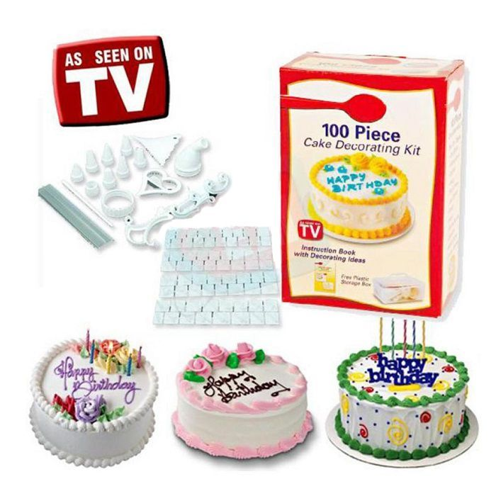 Набор для украшения тортов 100 PIECE CAKE DECORATION KIT