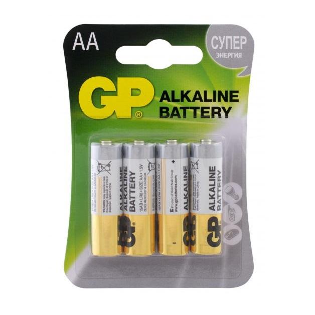 Батарейка АА GP Alkaline LR6 4 шт