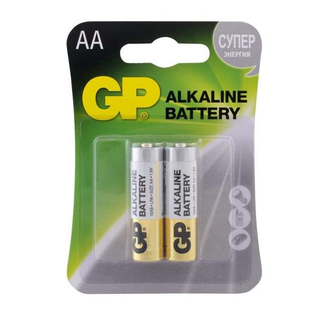 Батарейка АА GP Alkaline LR6 2 шт