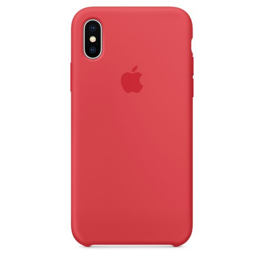 Silicone Case для iPhone X/Xs/XsMAX (спелая малина)