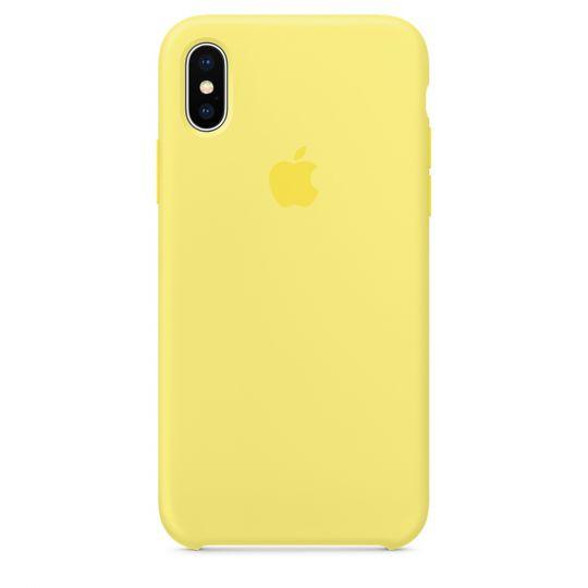 Silicone Case для iPhone X/Xs/XsMAX (холодный лимонад)