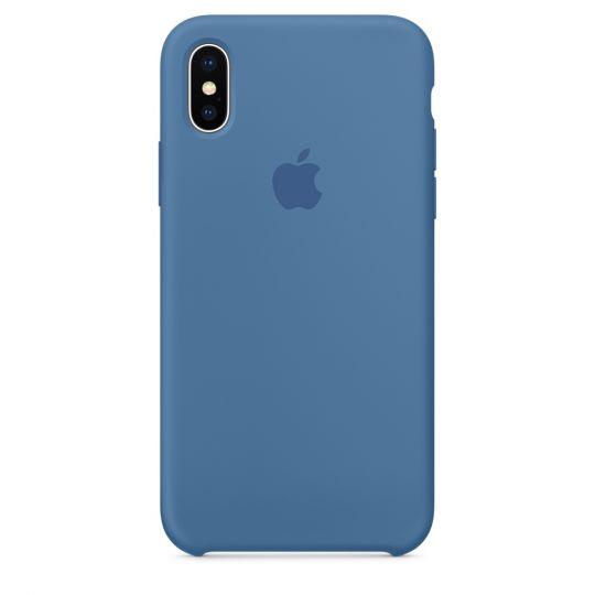 Silicone Case для iPhone X/Xs/XsMAX (синий деним)
