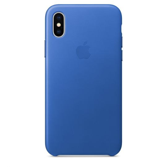 Чехол Apple Leather Case для iPhone X/Xs/XsMAX (синий аргон)