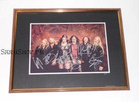 Автографы: Nightwish. Ф.Янсен, Э.Вуоринен, Т.Донокли, Т.Холопайнен, К.Хахто, М.Хиетала
