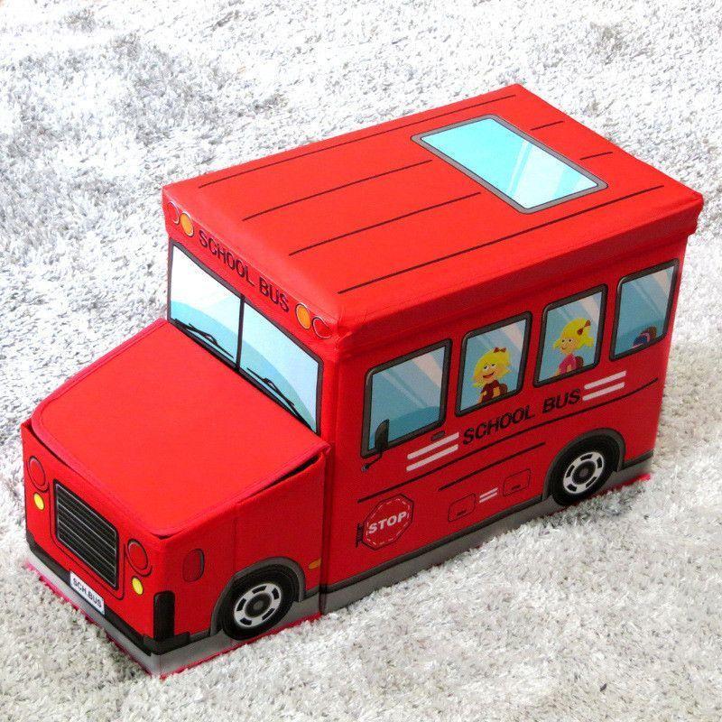 Короб для хранения игрушек Автобус, 2 отделения 39*25*31 см (Цвет: Красный)
