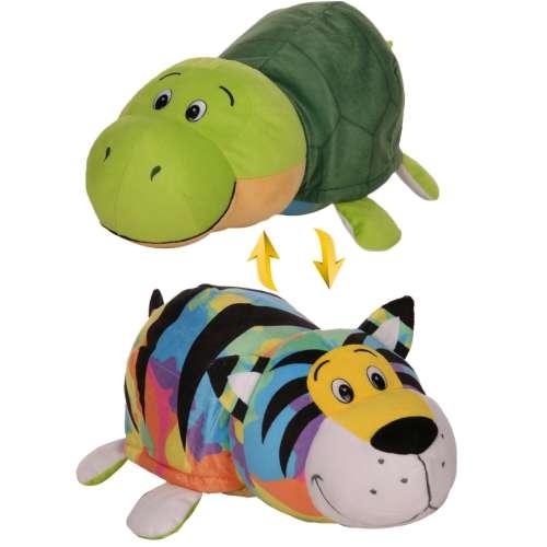 Мягкая игрушка Вывернушка 2 в 1   Радужный тигр - Черепаха 1 TOY 40 см