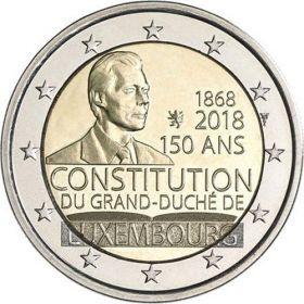 150 лет Конституции Люксембурга 2 евро Люксембург 2018