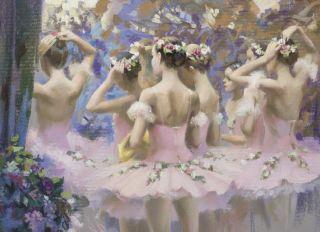 """Postcard Lively garden of the ballet """"Corsair"""""""