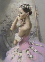 """A ballerina in a pink tutu. The ballet """"Corsair"""""""