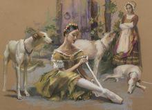 """Tying pointes. Ballet """"Giselle"""""""