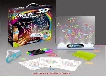 Магическая 3D доска для рисования Magic Drawing Board 3D (Тема: Космос)