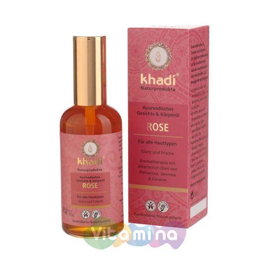 Khadi Масло для лица и тела «Роза» , 100 мл