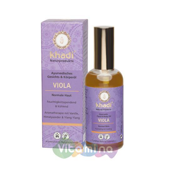 Khadi Масло для лица и тела «Виола», 100 мл