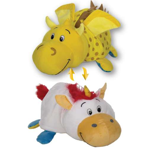 Мягкая игрушка Вывернушка 2 в 1  Золотой дракон - Единорог 1 TOY 40 см