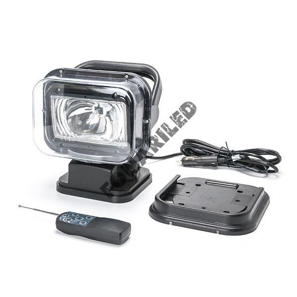 Черный фароискатель FI-GBB-70W spot поисковый пучок света
